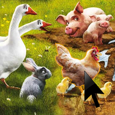 Звук курицы, поросенка и гусей онлайн